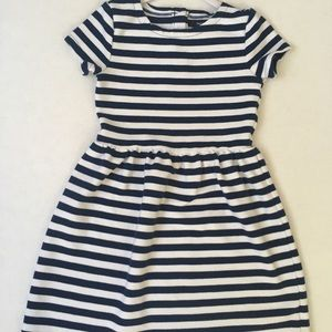 Gap Kids Navy Blue and White, Striped Dress